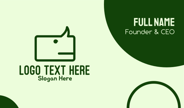 chat box - Green Rhino Chat Business card horizontal design