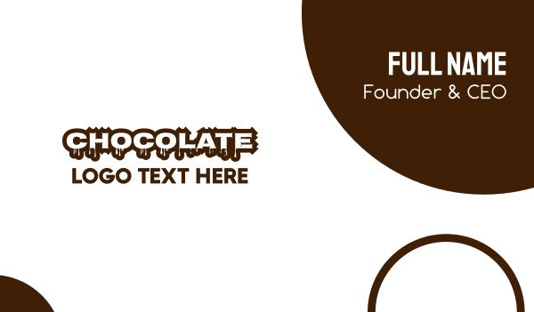 brown cupcake - Melting Chocolate Business card horizontal design
