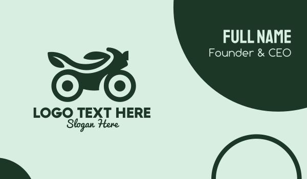 motor repair - Green Eco Bike Business card horizontal design