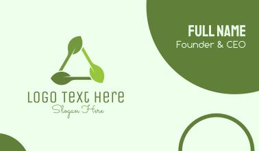 Organic Triangle Leaf  Business Card