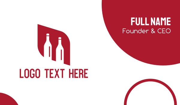 booze - Red Bottles Business card horizontal design