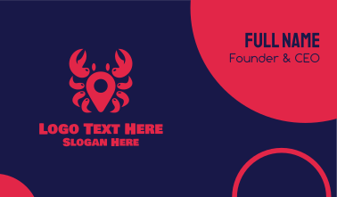 Crab Location Business Card