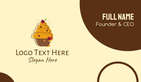 muffin - Honeycomb Cupcake Business card horizontal design