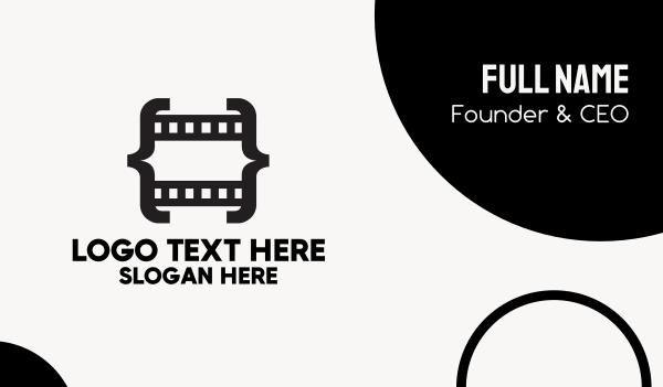 videographer - Code Film Business card horizontal design