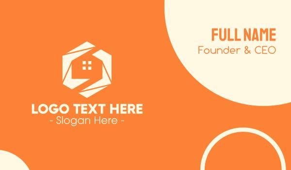 housing - Modern Hexagon Home Business card horizontal design
