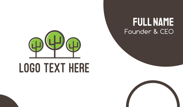tree - Tree Forest Business card horizontal design