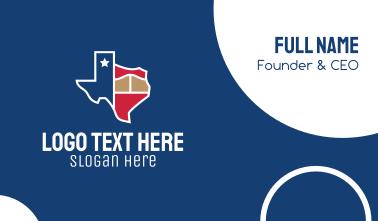 Texas Map Business Card