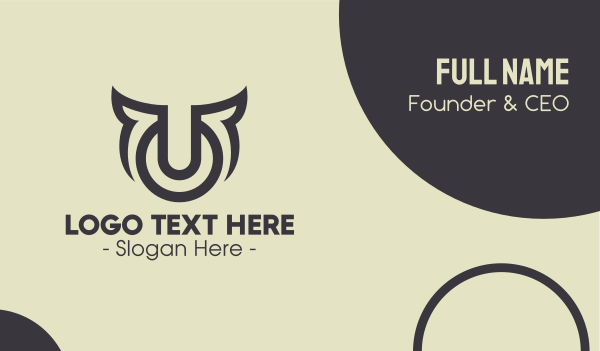 abstract design - Digital Bull Symbol Business card horizontal design