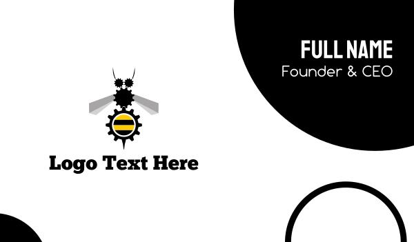 gears - Industrial Bee Business card horizontal design