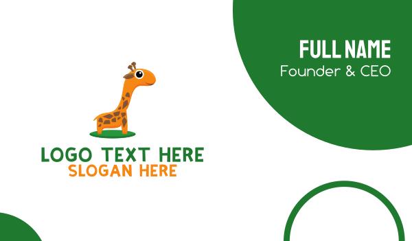 day care - Baby Giraffe Business card horizontal design