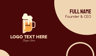 Beer Talk Bar  Business Card