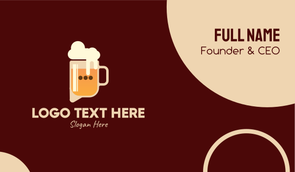 beer froth - Beer Talk Bar  Business card horizontal design