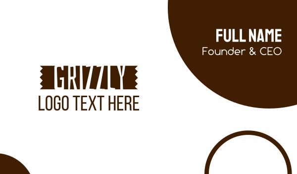 brown tree - Grizzly Lumber Wordmark Business card horizontal design