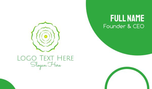 mind - Green Flower Business card horizontal design