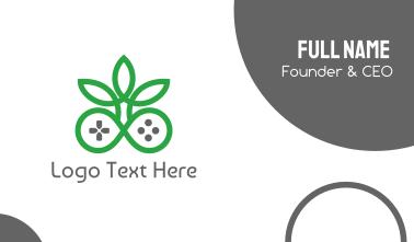 Green Cannabis Controller Business Card