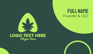 Simple Marijuana Leaf Business Card