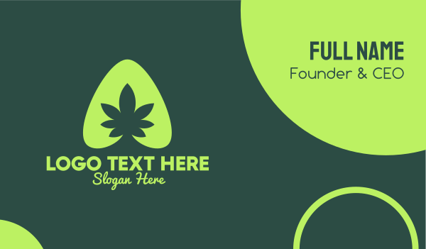 marijuana - Simple Marijuana Leaf Business card horizontal design