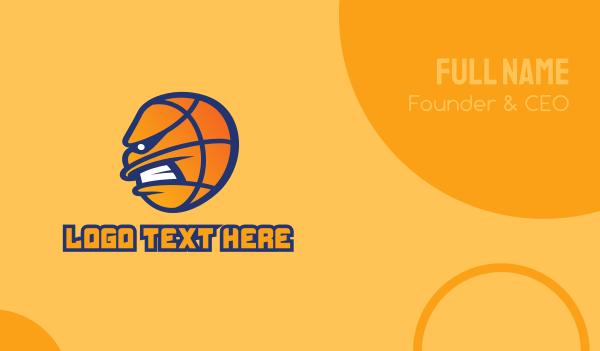 basketball equipment - Basketball Mascot  Business card horizontal design