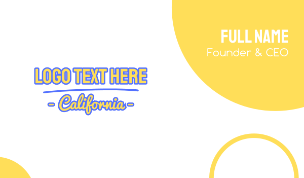 san francisco - California Font Business card horizontal design