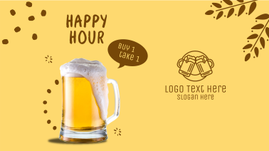 Happy Hour Buy 1 Get 1 Facebook event cover