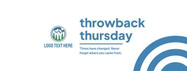 Inspirational Throwback Thursday Facebook cover