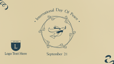 Peace Day Dove Banner Facebook event cover