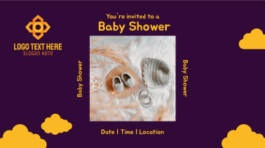 Baby Shower Invitation Facebook event cover