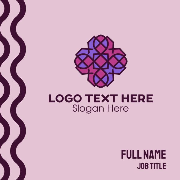 Geometric Flower Pattern Business Card