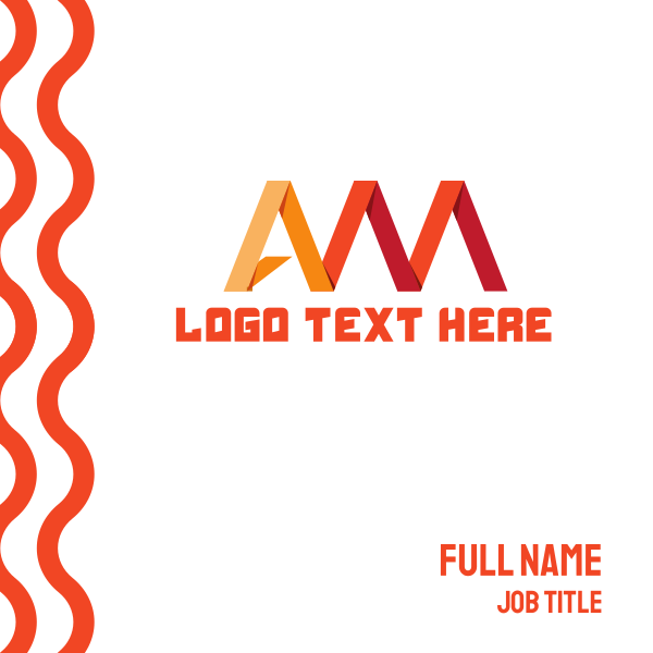 Red A & M Business Card