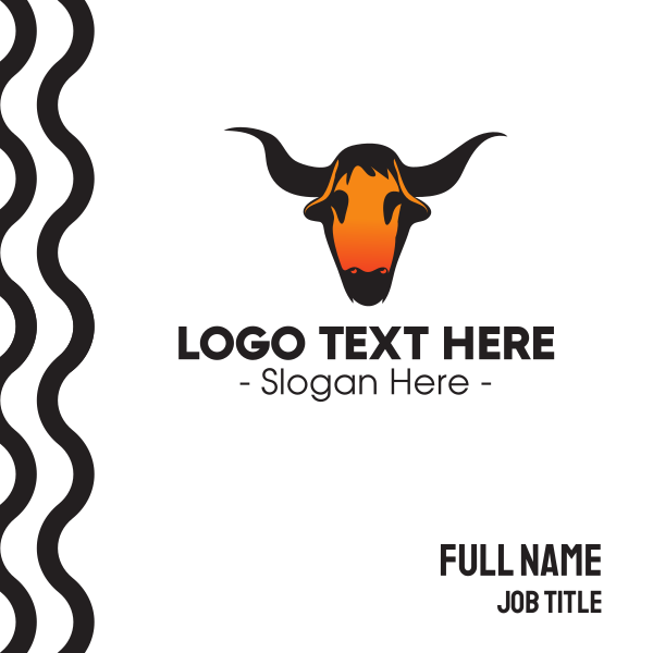 Texas Bull Skull Business Card