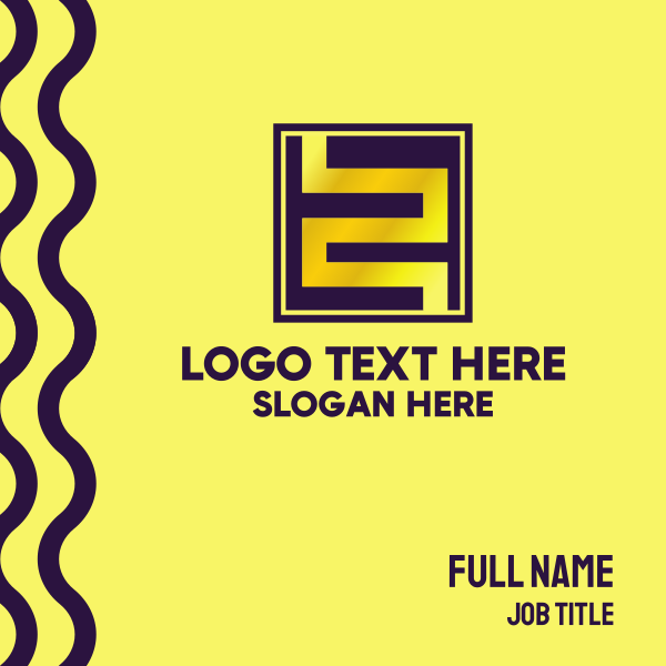 Gold Maze Number 2 Business Card