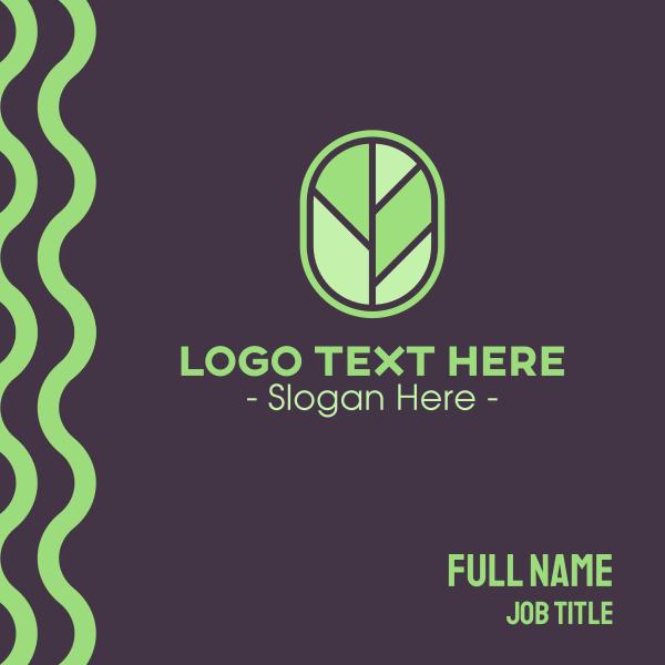 Tree Leaf Badge Business Card