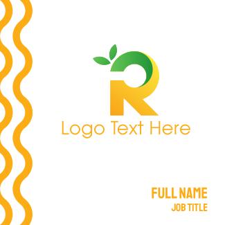 Lemon Letter R Business Card