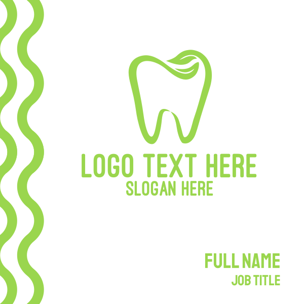 Organic Dentistry Business Card