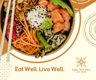 Healthy Food Sushi Bowl Facebook post