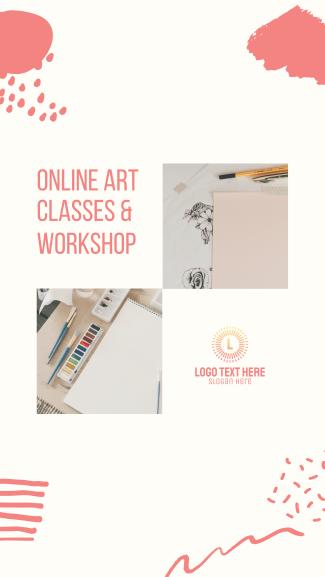 Online Art Classes & Workshop Facebook story