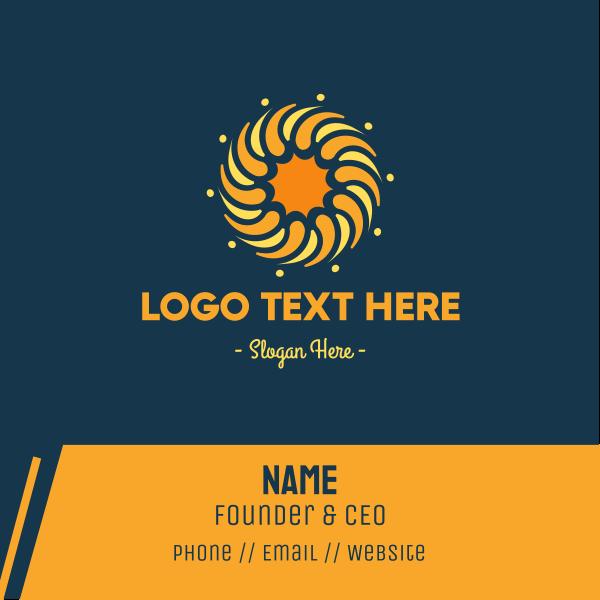 Golden Sun Circle Business Card