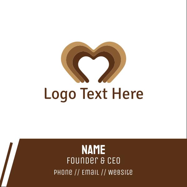 Brown Heart Business Card