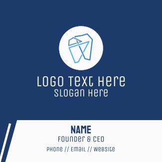 Modern Geometric Tooth Business Card