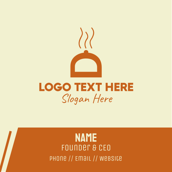 Orange Food Cover Business Card