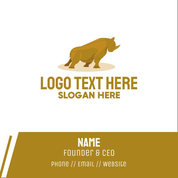 Gold Rhino Business Card