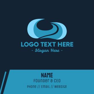 Blue Ocean Waves Business Card