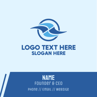 Abstract Waves Business Card