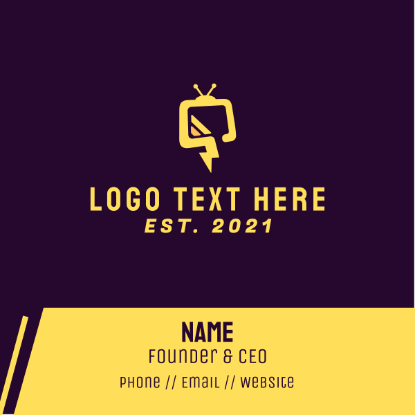 Flash Television Business Card
