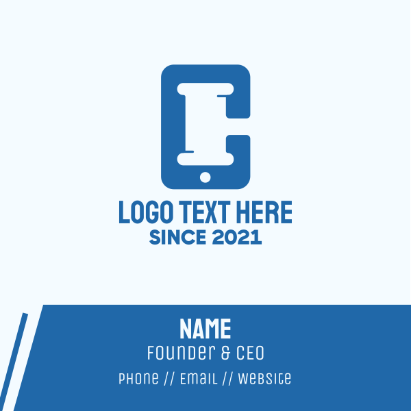 Law Firm Application Business Card