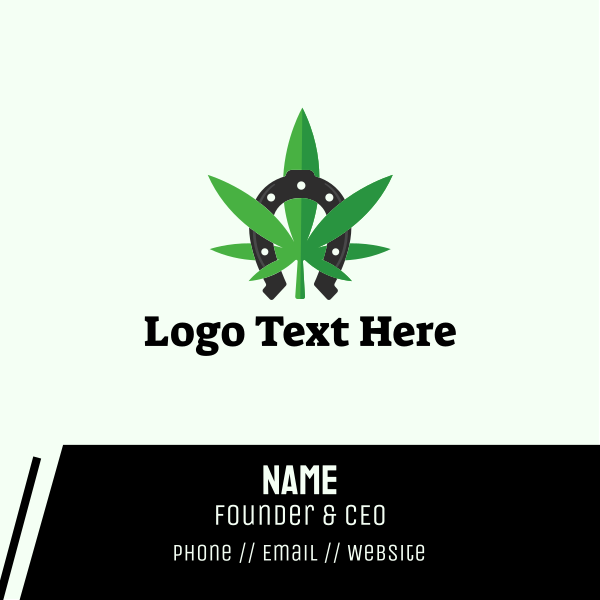 Lucky Marijuana Weed Leaf Business Card
