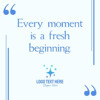New Beginning Instagram post
