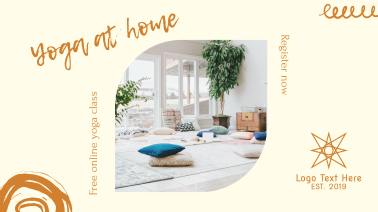 Yoga At Home Facebook event cover