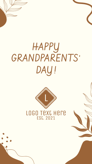 Grandparents Day Organic Abstract Facebook story