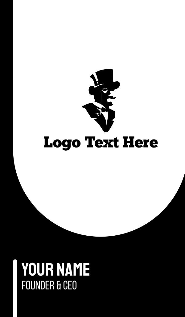 Gentleman Silhouette Business Card
